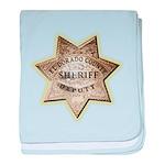 El Dorado County Sheriff baby blanket