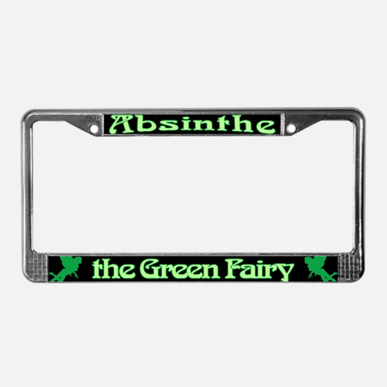Absinthe The Green Fairy License Plate Frame