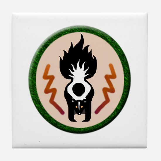 Skunk Totem Tile Coaster