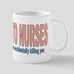 Be Kind To Nurses Mug