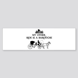 My Other Ride Is A Barouche Sticker (Bumper)