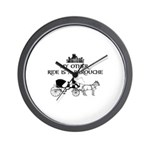 My Other Ride Is A Barouche Wall Clock