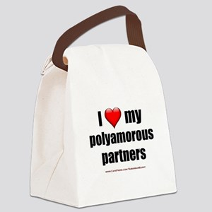 """""""Love Polyamorous Partners"""" Canvas Lunch Bag"""