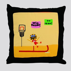 HI54JOC Basketball Boy Throw Pillow