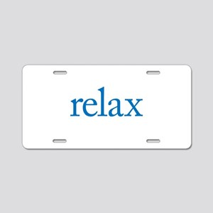 Relax to Garamond Aluminum License Plate