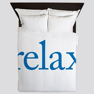 Relax to Garamond Queen Duvet
