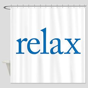 Relax to Garamond Shower Curtain