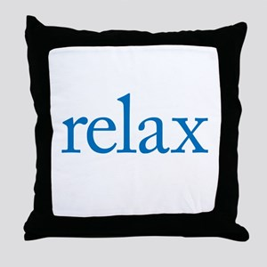 Relax to Garamond Throw Pillow