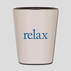 Relax to Garamond Shot Glass