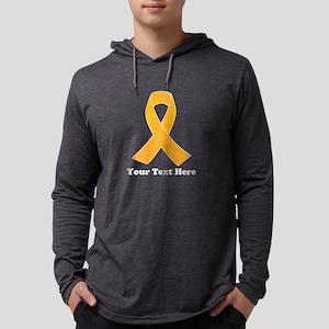 Gold Ribbon Awareness Mens Hooded Shirt