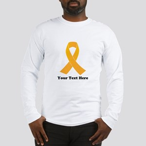 Gold Ribbon Awareness Long Sleeve T-Shirt