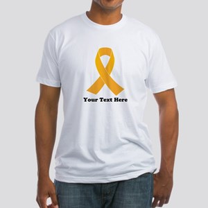 Gold Ribbon Awareness Fitted T-Shirt