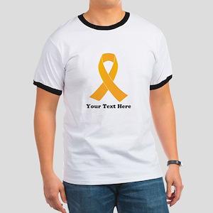 Gold Ribbon Awareness Ringer T