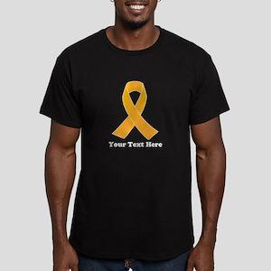 Gold Ribbon Awareness Men's Fitted T-Shirt (dark)