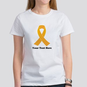 Gold Ribbon Awarenes Women's Classic White T-Shirt