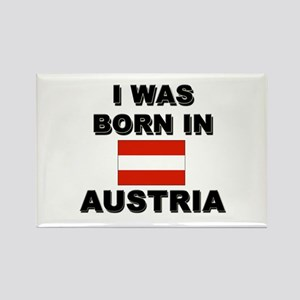 I Was Born In Austria Rectangle Magnet