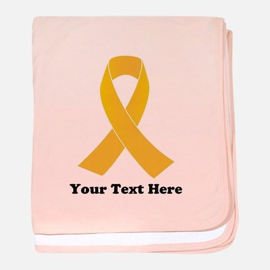 Gold Ribbon Awareness baby blanket