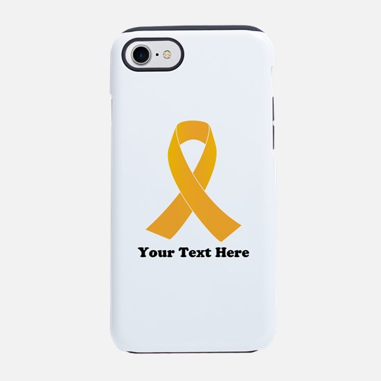 Gold Ribbon Awareness iPhone 7 Tough Case