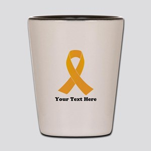 Gold Ribbon Awareness Shot Glass