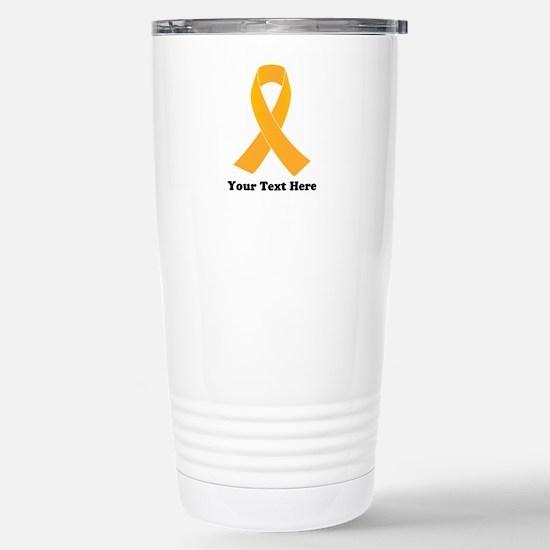 Gold Ribbon Aware Travel Mug
