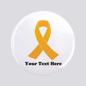 Gold Ribbon Awareness Button