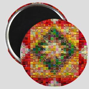 Heart Patchwork Love Quilt Magnet