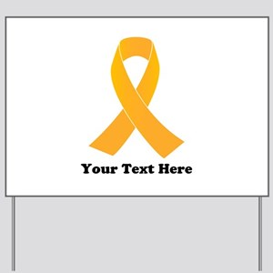 Gold Ribbon Awareness Yard Sign