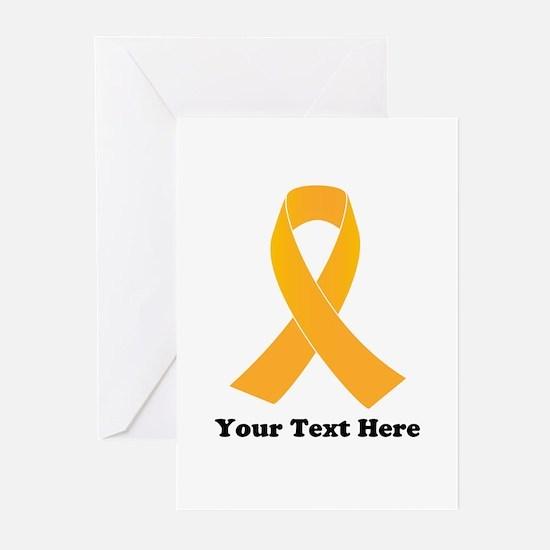 Gold Ribbon Awareness Greeting Cards (Pk of 10)