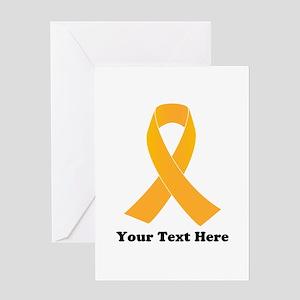 Gold Ribbon Awareness Greeting Card