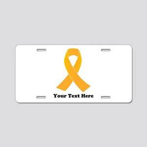 Gold Ribbon Awareness Aluminum License Plate