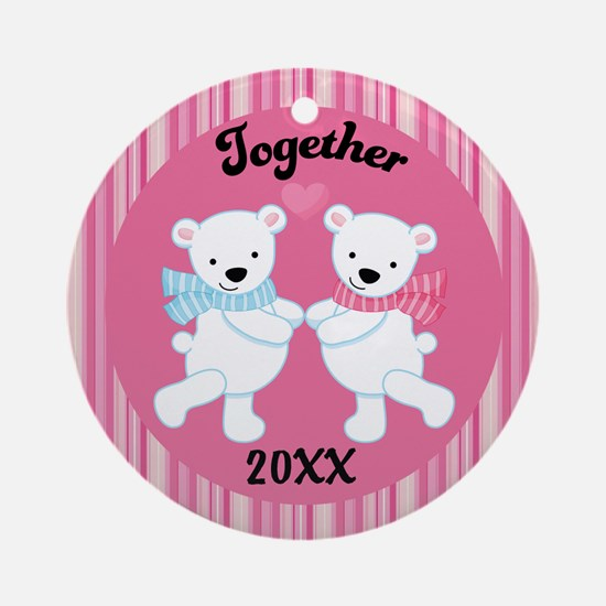 Personalized Polar Bears Couple Together