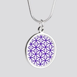 Flower of Life Silver Round Necklace