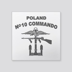 Poland - No 10 Commando - B Square Sticker 3""
