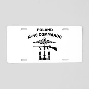 Poland - No 10 Commando - B Aluminum License Plate