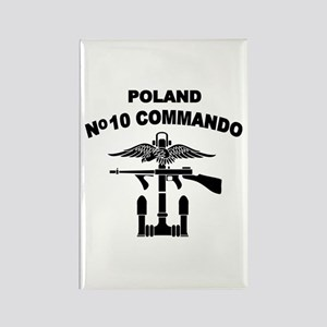 Poland - No 10 Commando - B Rectangle Magnet