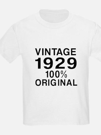 Vintage 1929 Birthday Designs T-Shirt