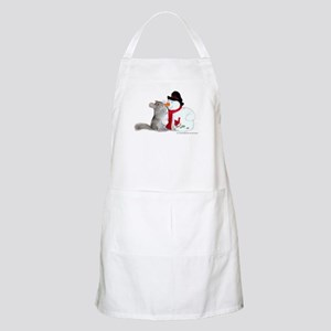 Chinchilla Christmas Apron