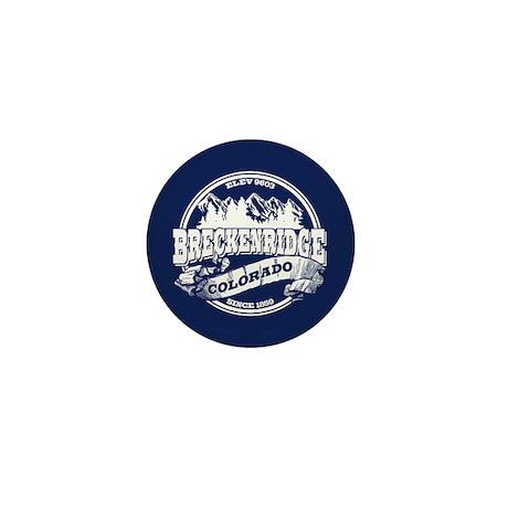 Breckenridge Old Circle White Mini Button