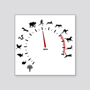 "animal speed Square Sticker 3"" x 3"""