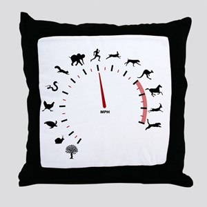 animal speed Throw Pillow