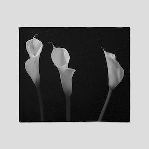 White Lilies Throw Blanket