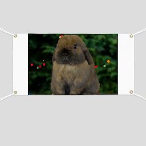 Christmas Bunny Banner
