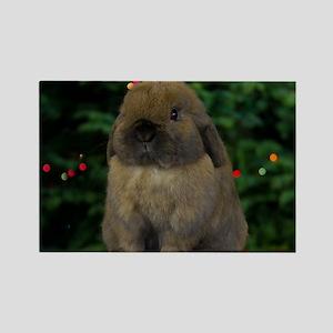 Christmas Bunny Rectangle Magnet