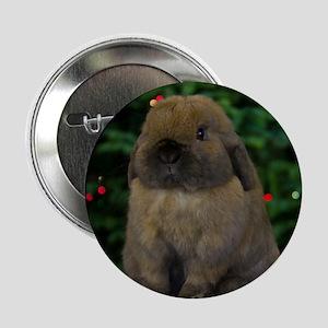 "Christmas Bunny 2.25"" Button"