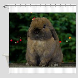 Christmas Bunny Shower Curtain