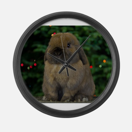 Christmas Bunny Large Wall Clock