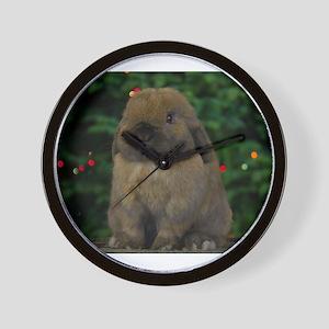 Christmas Bunny Wall Clock