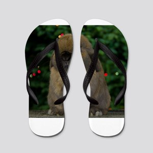Christmas Bunny Flip Flops