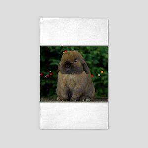 Christmas Bunny 3'x5' Area Rug