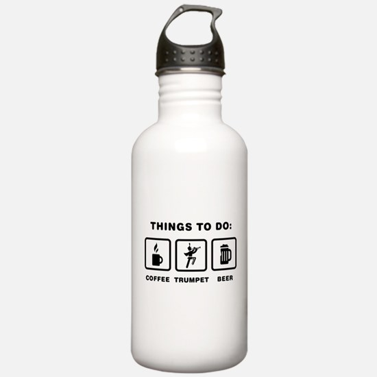 Trumpet Player Water Bottle